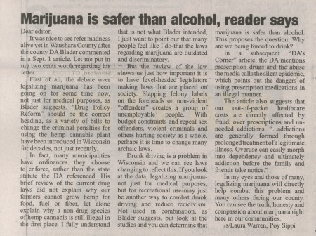 newspaper content at secondary education drinking